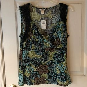 Christopher & Banks Knit Top; Size L; NWT